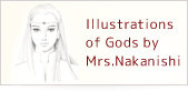 Illustrations of Gods by Mrs.Seiko Nakanishi