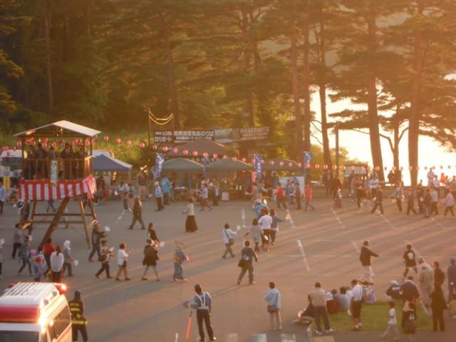 浪江町からの避難者を多く受け入れていた当時の夏祭りの様子