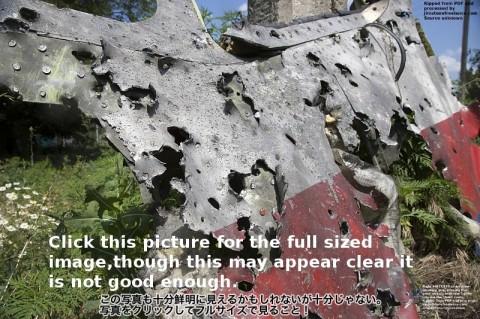 MH17ないしは370便が2機の戦闘機の銃によって撃墜された決定的証拠