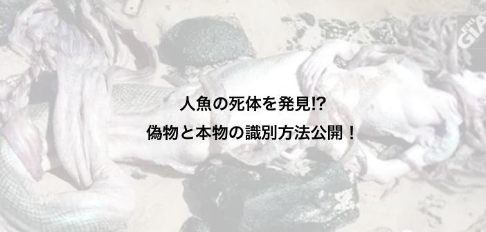 人魚の死体が発見、ヤクート 〜真偽の識別方法〜