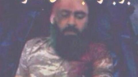 ウェブサイト上に投稿されたISISの指導者の写真
