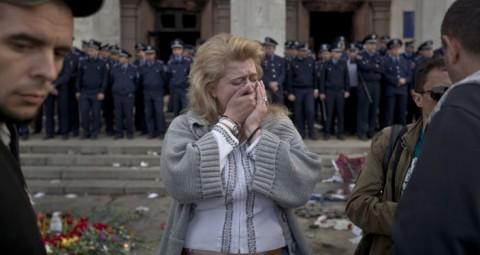 © AP PHOTO/ VADIM GHIRD ウクライナ 仏テレビ局にマイダンとオデッサの出来事に関するドキュメンタリー映像を放送しないよう求める