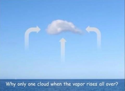 《なぜ蒸気はあちこちから立ち上っているのに雲は1つしか存在しないのか?》