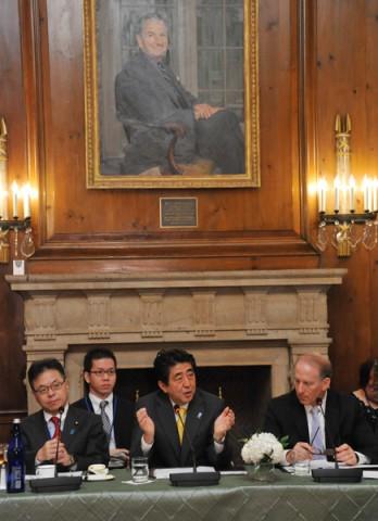 安倍晋三と清和政策研究会の御本尊、ロックの「CFRとの懇談及び昼食会」