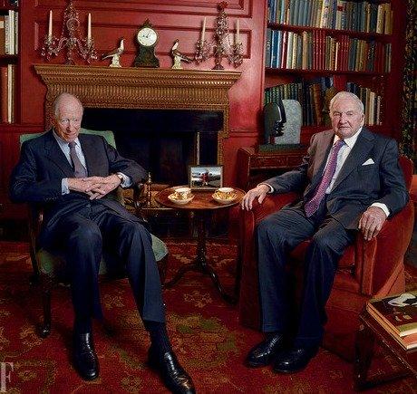 同盟を組んだことを明らかにしたジェイコブ・ロスチャイルドとディビッド・ロックフェラー