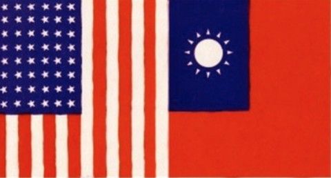 【アメリカと中華民国の国旗】