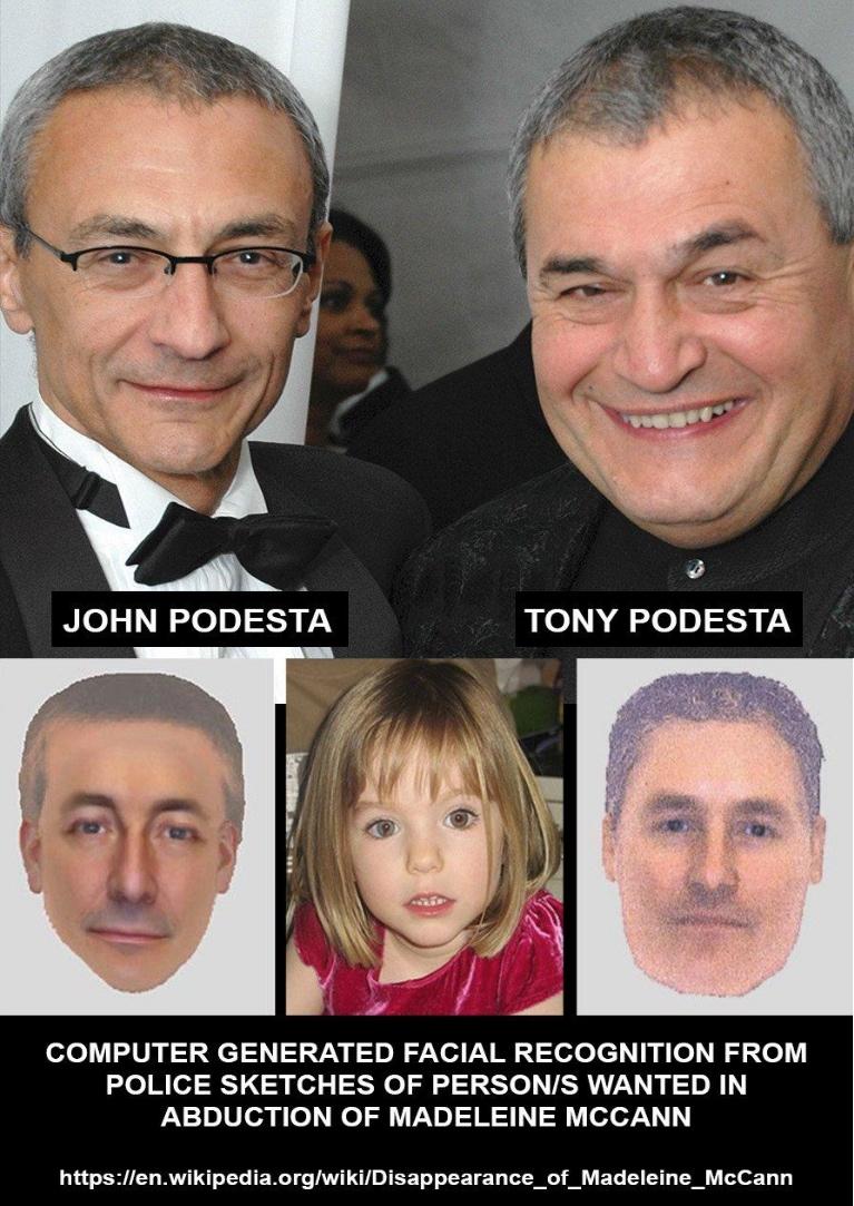 マデリン・マッキャンの誘拐で指名手配された人物の、警察によるスケッチから、コンピューター処理によって割り出された顔画像