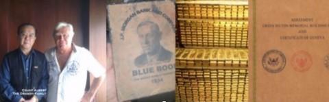 """【ドラゴン・ファミリーのアルバート伯爵とキーナン氏、およびキーナン氏に預けられた口座に関する""""青い手帖""""、口座の中身である金塊、グリーンヒルトン・メモリアル協定書】"""