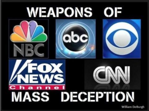 大量欺瞞兵器 主流メディアは閉鎖し、そし て/または即刻、接収されなけ ればならない