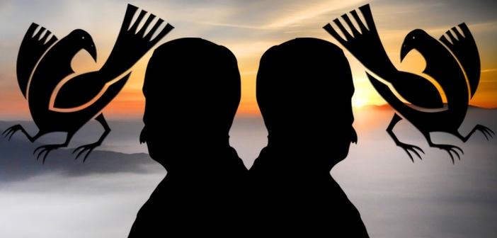 2人の裏天皇(祭祀のメシアと預言者)とそれぞれの裏天皇を守護する2組の...